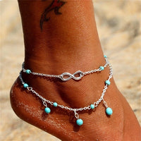 KISSWIFE Ankle Chain Pineapple Pendant Anklet Beaded 2018 Summer Beach Foot Jewelry Fashion Style Anklets for Women