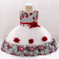 Infant Baby Girl Dress Lace Tulle Baptism Dresses for Girls 1st Year Birthday Beading Appliqued Party Wedding Baby Clothing