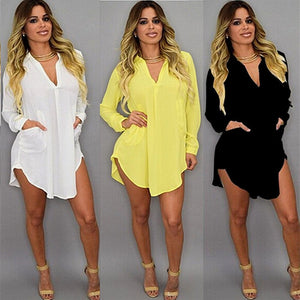 Maternity Chiffon Blouse For Pregnant Women Clothes Casual Autumn Tops Sexy V Neck Shirts Pregnancy Clothing Of Large Size 5XL