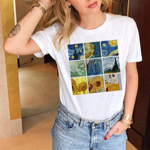 T-shirts CasualLove Printed Tops Tee Summer  Short Sleeve T shirt