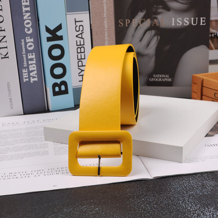 2018 New Fashion Accessories Casual Female Belt Solid Plastic Head Smooth