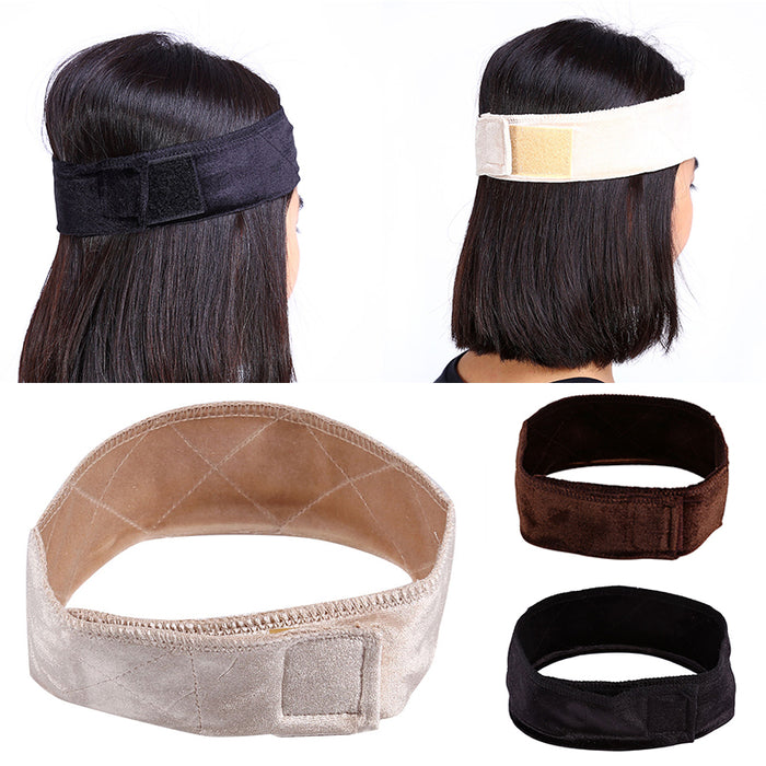 Maytir 3 Colors Adjustable Flexible Velvet Fabric Wig Grip Scarf Headband Head Band Fasten Wig For Styling Tool