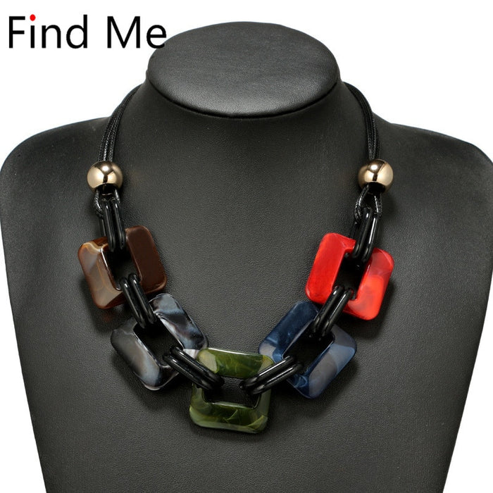 fashion power Leather cord statement necklace & pendants vintage weaving