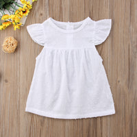 Kids Infant Baby Girls Tutu Dresses Spotted Fly Sleeve Sundress Dress Clothes