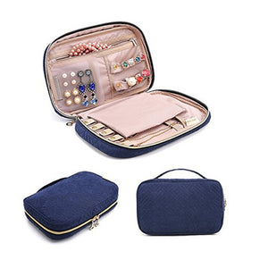 ROXI Jewelry Box Portable Storage Organizer Zipper Portable Display Travel Case