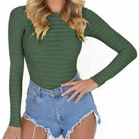 Feminino Mujer Sexy Stretchy Rompers Autumn Bodycon Bodysuits Long Sleeve O Neck Women Body Winter Jumpsuit Top One Piece GV125
