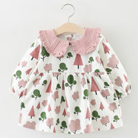 Melario Baby Dresses 2019 New Summer Baby Girls Clothes Cartoon Printing Girls Party Dress Princess Dress Flower Stripe Dress