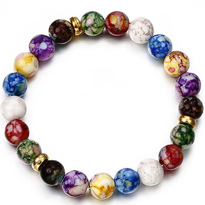 2018 Hot  Fashion Colorful Bead Bracelet For Women Popular Charm Round