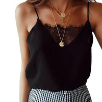 Womens Blouse Tee Lace T shirts Vest Summer Sexy Vest Fashion Camisole Crop Top