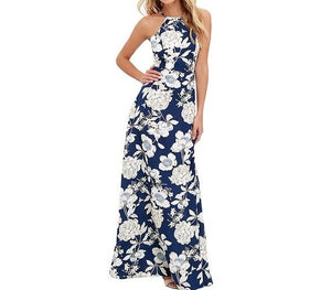 Maxi Long Dress 2019 Summer Dresses Women Floral Print Boho Dress Plus Size 5XL Sleeveless Beach Holiday Slip Dress female gowns