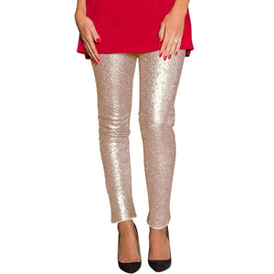 Pants For Women Sequined Skinny Pants Female Slim Leggings Party