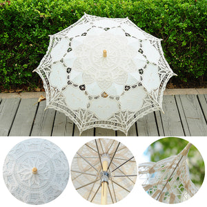 1PC Western Style Umbrella Stylish Exquisite Lace Parasol Handmade Lovely Wedding