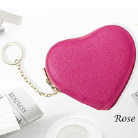 2019 heart-shaped women's sweet Genuine Leather zipper Keys purse coin purses lady mini sexy Key bag housekeeper lovely Key Case