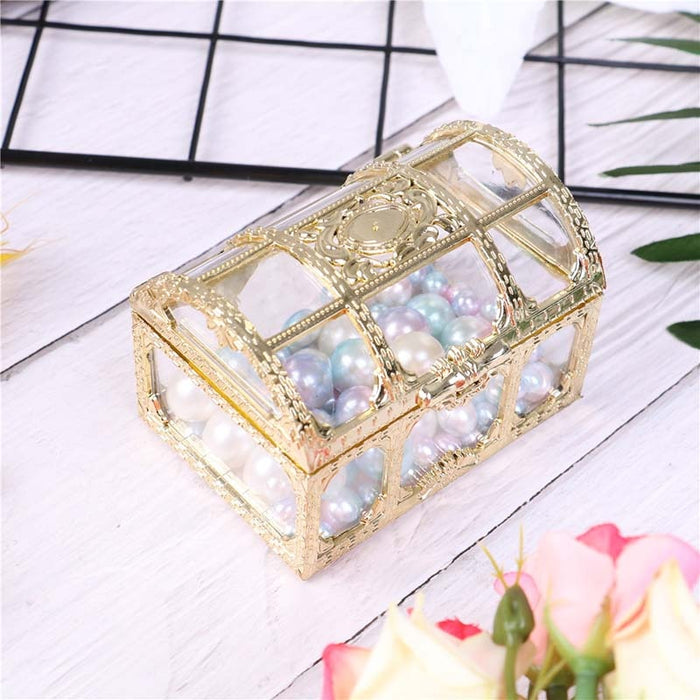Wedding Jewelry Box Gold Candy Ring Earrings Necklace Box Case Gift Birthday Party Wedding Decor Jewelry Packaging Bead Storage