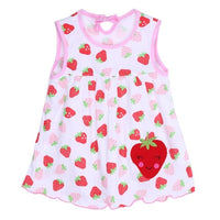 Newborn Baby Summer Dresses Girls Dress Baby O-neck Sleeveless Cotton Princess Mini Dress Child Cute Pattern Decor Dot Clothes