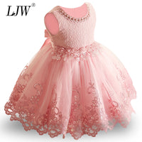 2019 New Lace Baby Girl Dress 9M-24M 1 Years Baby Girls Birthday Dresses Vestido birthday party princess dress