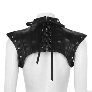 Sexy Tops for Women Clubwear Womens PU Leather Harness Back Lace up Shoulder Chest Harness Shirt Clubwear Costume Half Tank Top