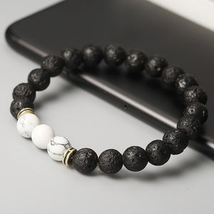2018 New Hot Sell Bead Bracelet For Men Women Black Color Acrylic Round