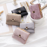 Band Fashion Women wallet small three fold PU leather coin wallet fresh multi-function women purse female coin purse wallet