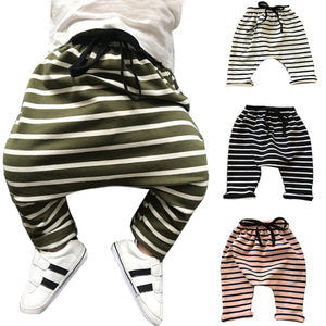 0-3 years Baby Harem Pants Winter striped Newborn Soft Pants Sweat