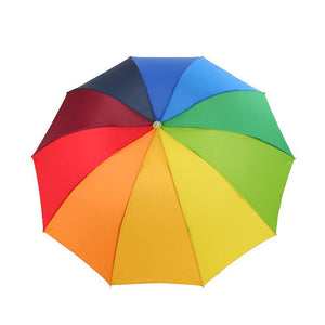 DINIWELL Rainbow Outdoor Three-folding Umbrella Parasol 8 Rib Wind Resistant For Women Tarvel Umbrella Women Wedding Umbrella