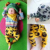 Pudcoco Babys Pants Cotton Toddlers Infants Kids Baby Boys Girls Harem Long Pants Trousers Leggings Bottoms