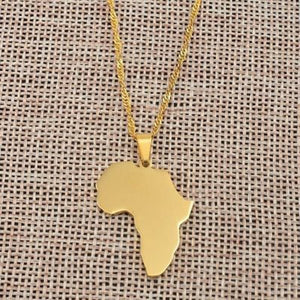 Classic Africa Map Necklace&Pendant  For Women and Men Necklace  Gold Silver Color Collier Afrique Jewelry