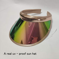 Summer Women Men Sun Hat Candy Color Transparent Empty Top Plastic PVC ja