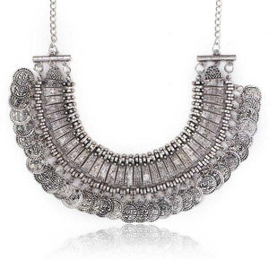 Vintage Maxi Statement Necklaces & Pendants Bohemian Coin Necklace Women