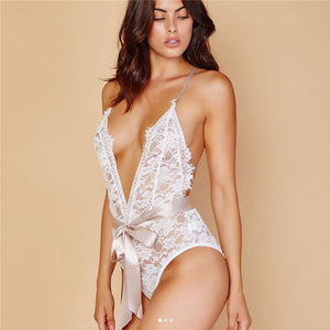 2019 Sexy Bodysuit Body Tops Women Off Shoulder Short Jumpsuit Deep V Neck