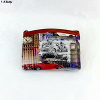 Children's Vintage Eiffel Tower Coin purses Girl Big Ben change purse