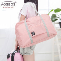 2019 Aosbos NEW Folding Nylon Travel Shoulder Bags Female Hand Luggage