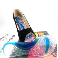2 pairs= 4pcs Women's silicone gel flat foot arch support insole high heel