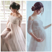 Lace Vestidos Maternity Photography Props White Pregnancy Dress