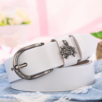 COOLERFIRE Women's Brand New Retro Casual Wild Msreal Leather Belt Buckle  Pure Leather Belt Women Jeans belts LB014