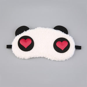Mask For Sleep Cute Panda Sleeping Face Eye Blindfold Eyeshade Breathable Kids Women Travel Cover Health Care Aid Eyepatch Tool