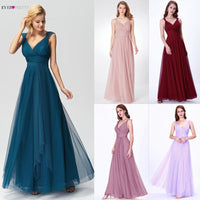 Prom Long Elegant Dresses Ever Pretty EP07303 V-neck Sleeveless A-line