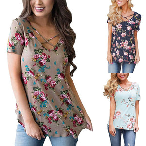 Casual Fashion Boho Floral Chiffon 2019 Summer Shirts Womens Tops And Blouses