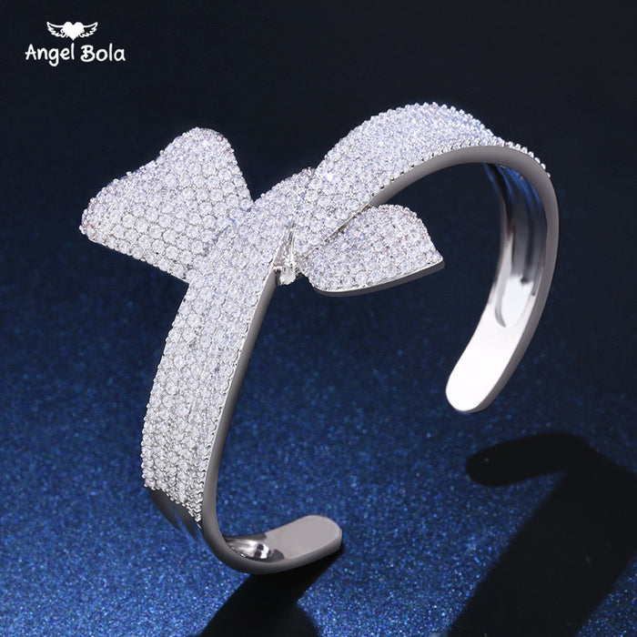 Luxury Brand Women's Palm Bracelet Best Bridal Jewelry AAA Cubic Zircon