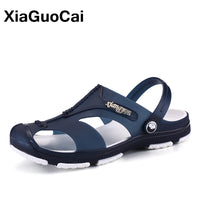 2019 Summer Men's Slippers Clogs Slip-On Garden Shoes Breathable Man Sandals