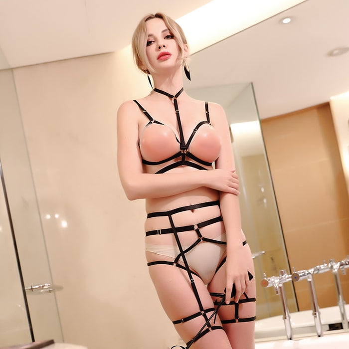 Sexy Body Harness Full Hrajuku Bondage Harnes Bra Full Set of Bdsm Clothing Sexual Suspenders Garters Women Bodysuit Harness Set