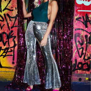 New Sexy Fashion Women Girl Nightclub Singer Bag Hip Glittering Sequins Leggings