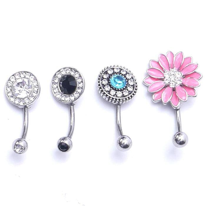 Hot Sale Sexy Dangle Navel Belly Button Rings Belly Navel Piercing Surgical Steel Belly Dance Bars Body Jewelry Piercing Barbell
