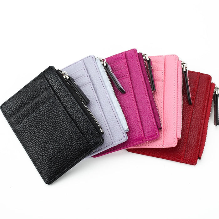 Hot Sell Mens Womens Mini ID Card Holders Business Credit Card Holder PU leather Slim Bank Card Case Organizer Wallet