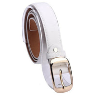 New 2019 Fashion Women Belt Cinturones Mujer Ladies Faux Leather Gold Pin