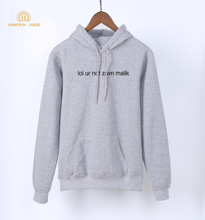 Lol Ur Not Zayn Malik Funny Pullovers For Fangirl 2019 Spring Autumn Kawaii Sweatshirts Women K-pop Warm Fleece Gray Hoodies