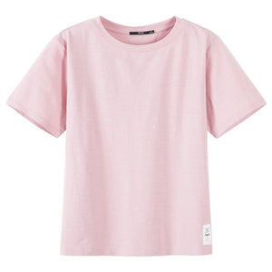 SEMIR T Shirt Women New 100% Cotton t-shirts womens 2019 vogue Vintage tshirts cotton women O Neck Short Sleeve Tops