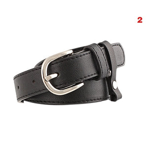 Women Black Waist Belt Round Triangle Heart Shape Buckle PU Leather With Alloy Buckle Lady Girl Belts for Jeans Pants LXH