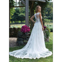 Fansmile New Vestido De Noiva White Lace Mermaid Wedding Dress Train Plus Size