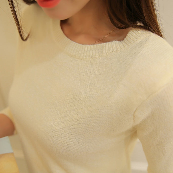 PEONFLY Autumn Winter Sweater Female Knitted Jersey Jumper Women Cashmere Pullover Tricot Pull Femme